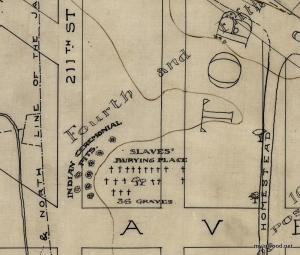 Slave-burial-ground-10th-Avenue-between-211th-and-212th-Streets-map-by-Reginald-Bolton